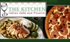 55% Off at The Kitchen Italian Cafe and Pizzeria