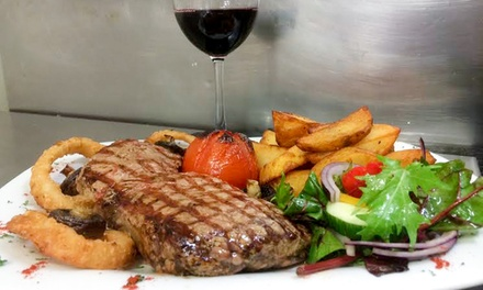 Romantic Steak Meal with Sides and Wine for Two or Four at The Moorings Pub & Kitchen