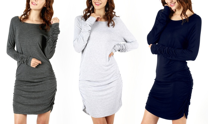 Shirring Bodycon Dress