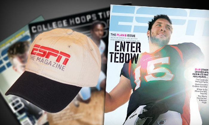 """ESPN The Magazine - Edmond: $13 for a Sports-Fan Package with a One-Year Subscription to """"ESPN The Magazine"""" Plus an ESPN Hat ($26 Value)"""