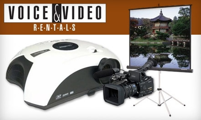 Voice & Video Rentals - Kearny Mesa: $49 Projector Rental from Voice & Video Rentals ($99 Value)