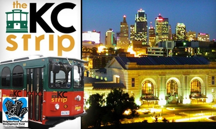 Kansas City Strip - Multiple Locations: $5 for a Night of Unlimited Trolley Rides from Kansas City Strip ($10 Value)