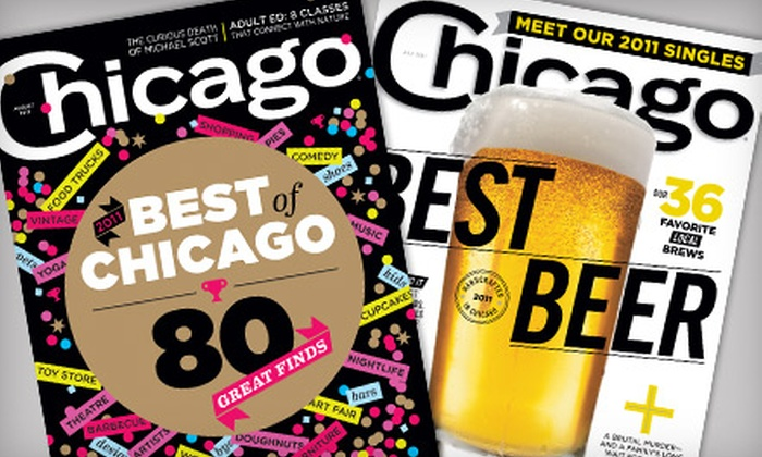 """""""Chicago"""" Magazine - Near North Side: $6 for a One-Year Subscription to """"Chicago"""" Magazine ($12 Value)"""