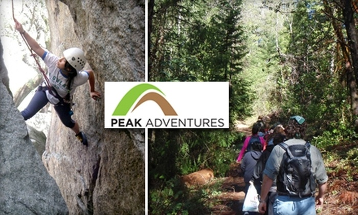 Peak Adventures - Downtown: $25 for Your Choice of a Guided Day Hike, Mountain Bike Trip, or Rock-Climbing Outing from Peak Adventures ($57 Value)