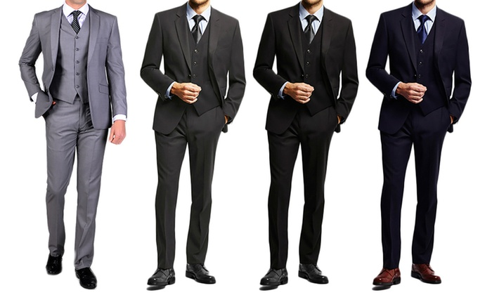 Carlo Lusso Classic-Fit Suits (3-Piece)