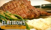 Flatiron's American Bar and Grill - Broadmoor: $7 for $15 Worth of Pub Fare and Drinks at Flatiron's American Bar & Grill