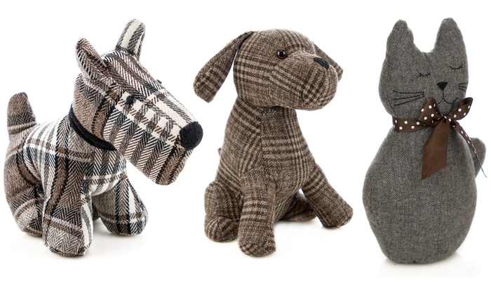 Up To 11 Off Plush Animal Door Stopper Groupon