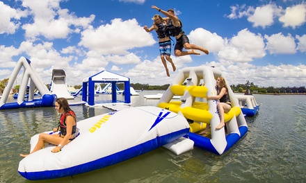 Aqua Park Entry: 50 Minutes $12, 100 Minutes $23 or Day Pass $35 at Bli Bli Watersports Complex Up to $55 Value