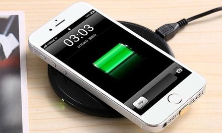 1 o 2 cargadores inalámbricos con adaptadores universales para iPhone y Android