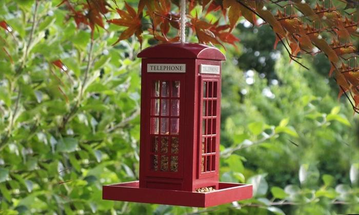 Telephone Box Bird Feeder for £4.99