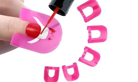 1, 2 o 4 packs de 26 protectores para esmalte de uñas con plantilla para manicura francesa