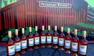 Peterson Winery: Wine Tasting for Two or Four with Merchandise or Wine Credit at Peterson Winery (Up to 39% Off)