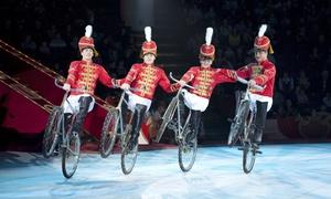 """Moscow Circus on Ice: """"Sensation"""": 2x """"Moscow Circus on Ice – Sensation"""" vom Moskau Nikulin Zirkus in 9 Städten (bis zu 49% sparen)"""