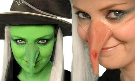 1, 2 o 3 narices de bruja falsas para Halloween