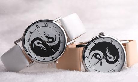 Relojes para mujer diseño Yin Yang Cats
