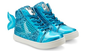Olivia Miller Mermaid Sneaker with Matching Handbag (Size 5)