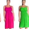 Sleeveless Solid-Color Summer Dress