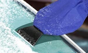 Waterproof Fleece Lined Ice, Slush and Snow Scraper Mitt
