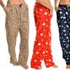 Women's Fleece Pajama Pants with Pockets