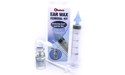 Ear Wax Removal Kit with Earol Olive Oil and EarWiz