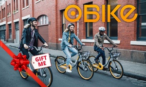 oBike: $6 for 90 Days of City Bike Rentals with oBike (Up to $49.99 Value)