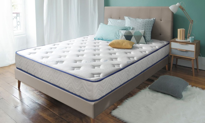 matelas blue nano gel groupon. Black Bedroom Furniture Sets. Home Design Ideas