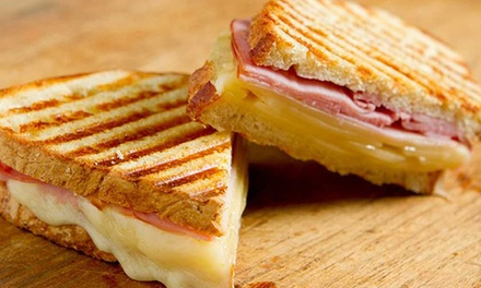 Toasted Sandwich and Coffee   One ($5.50) or Two Sets ($10.90) at Hangar Cafe QV (Up to $18.80 Value)