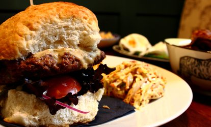 image for Burger, Chips and Wine for Two or Four at The Curfew (47% Off)