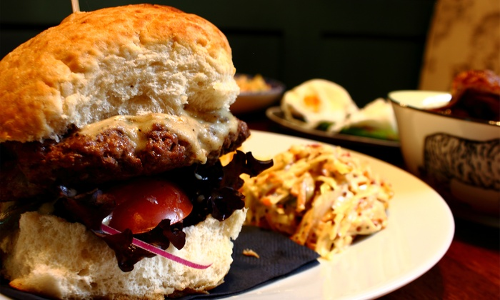 The Curfew - Bath: Burger, Chips and Wine for Two or Four at The Curfew (47% Off)