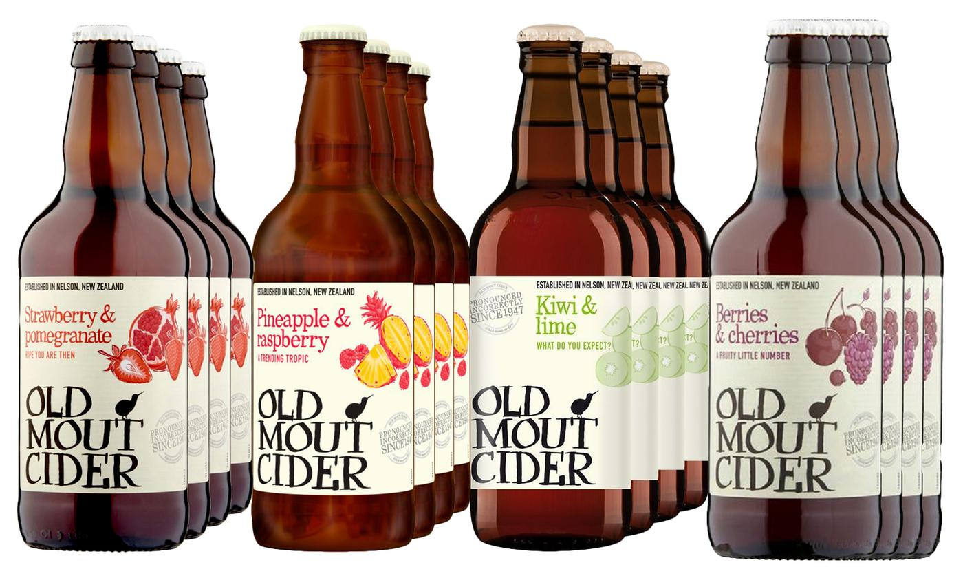12 Bottles of Old Mout Alcohol Cider 500ml in Choice of Flavour