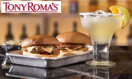 Merienda dulce o salada para 2 personas con opción a cóctel desde 7,95 € en Tony Romas