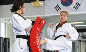 Crown Point Black Belt Academy: One Month Unlimited Tae Kwon Do Package for One or Two at Crown Point Black Belt Academy (Up to 93% Off)