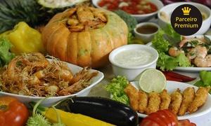 Restaurante Mar e Terra: Restaurante Mar e Terra – Tingui: jantar com rodízio de carnes e frutos do mar para 2 pessoas