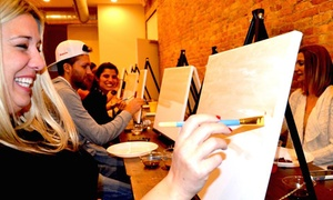 """Splash on Canvas Art: BYOB """"Coffee is the New Paint"""" Admission for 1, 2, 4, or up to 10 People at Splash on Canvas Art (Up to 50% Off)"""