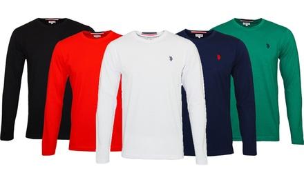 T shirt homme US POLO ASSN manches longues, 100% coton