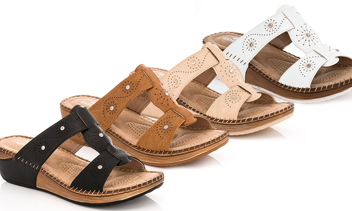 Lady Godiva Women's Open-Toe Comfort Sandal