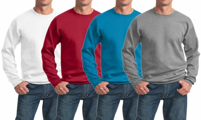 Port & Company Men's Core Fleece Crew-Neck Sweatshirt
