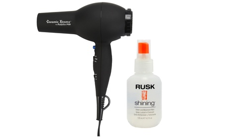 BaByliss Pro Ceramix Xtreme 2,000-Watt Hair Dryer and Rusk Shining Sheen and Movement Myst fca14948-81c5-11e6-b84d-00259069d7cc