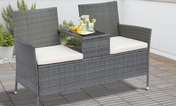 Outsunny Two-Seater Outdoor Rattan-Effect Companion Set (£109.99)