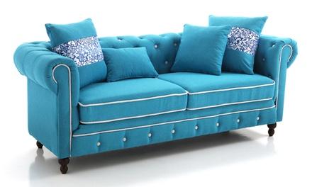 Set di divani biposto e triposto in tessuto antimacchia italia