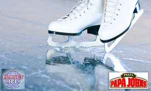 Planet Ice Basingstoke: Papa Johns and Planet ice Entry for One, Two or Four (Up to 56% Off)