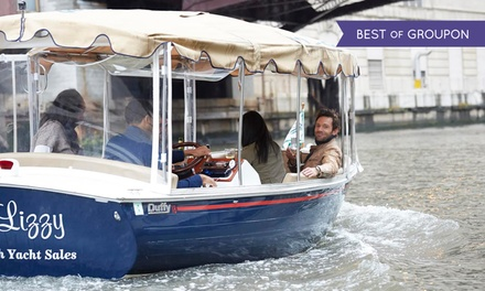 $99 for a Two-Hour Electric Boat Rental from Chicago Electric Boat Company ($300 Value)