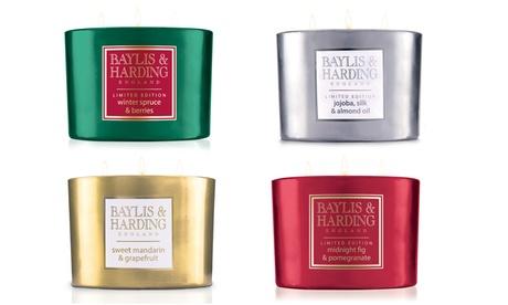 Fino a 4 candele profumate Baylis & Harding disponibili in varie fragranze