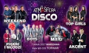 Atmasfera Disco: Od 54,90 zł: bilet na koncert Atmasfera Disco z Zenonem Martyniukiem, zespołem Boys lub więcej w hali Torwar
