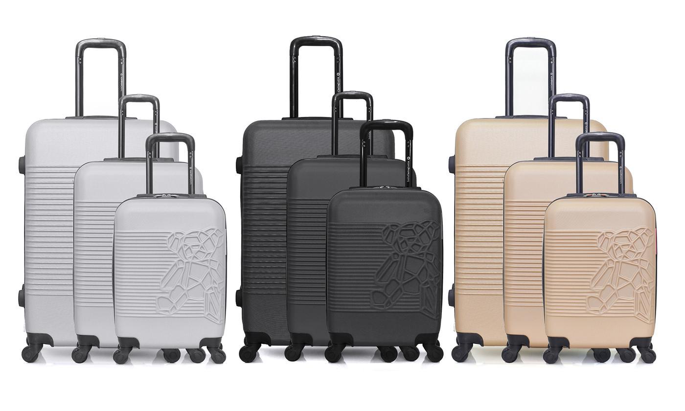 Bear Cube Three-Piece Luggage Set