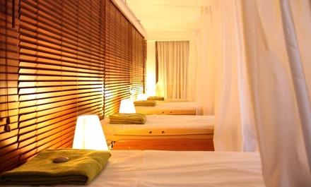 Pause détente avec lit Shiatsu et modelage shiatsu amma corps ou corps huiles bios dès 25,50 € chez Parenthèse Bien-être