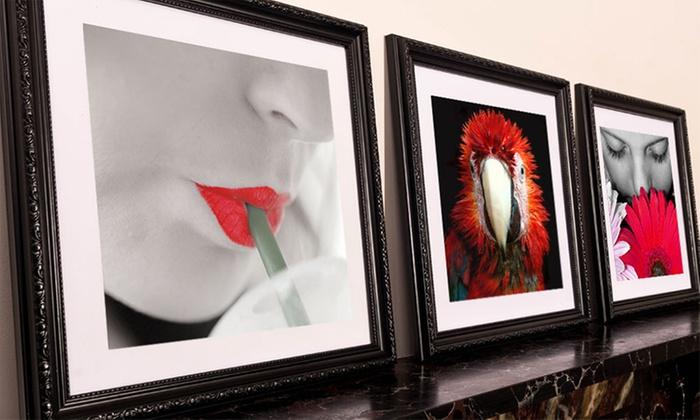 framed 10x10 or 15x15 custom photo canvas from mezoo