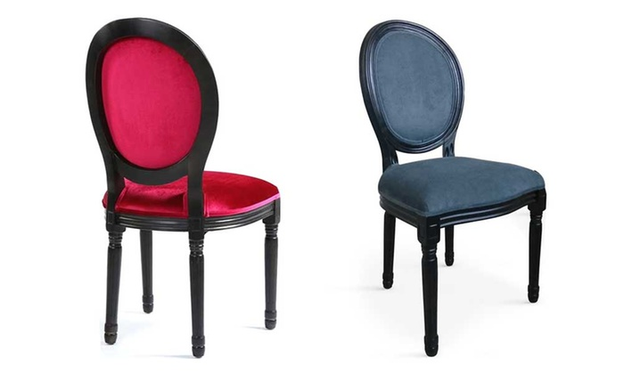 Lot 2 chaises m daillon louis xvi groupon shopping for Maison du monde chaise louis xvi