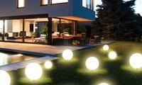 LED Solar-Außenleuchte inkl. Power Leds und Edelstahlsockel in der Größe nach Wahl