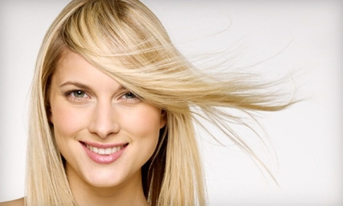 The Station For Hair - Long Beach: $50 for Half Head of Highlights ($110 Value) or $17 for a Gel Manicure ($35 Value) at The Station For Hair in Long Beach